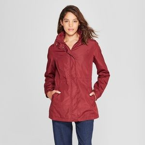 A New Day burgundy water resistant jacket